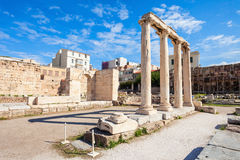 Hadrian's Library in Athens Royalty Free Stock Photos