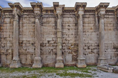 Hadrian's library ruins Royalty Free Stock Photos