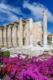 Hadrian's Library ruins in Athens, Greece Royalty Free Stock Photography
