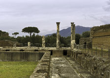 Hadrian`s Villa. Villa Adriana in Italian was constructed at Tibur as a retreat from Rome for the Roman Emperor Hadrian during the early 2nd century AD.  Tibur Royalty Free Stock Photo