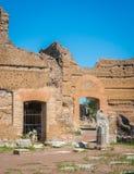 Hadrian`s Villa, large Roman archaeological complex at Tivoli, province of Rome, Lazio, central Italy. Hadrian`s Villa is a large Roman archaeological complex Stock Photography