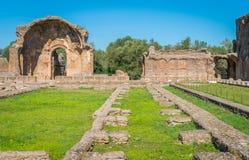 Hadrian`s Villa, large Roman archaeological complex at Tivoli, province of Rome, Lazio, central Italy. Hadrian`s Villa is a large Roman archaeological complex Stock Images