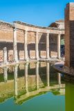 Maritime Theatre at Hadrian`s Villa, large Roman archaeological complex at Tivoli, province of Rome, Lazio, central Italy. Hadrian`s Villa is a large Roman Stock Photography