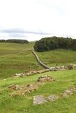 Hadrian's wall. Near the Roman Fort Stock Photos