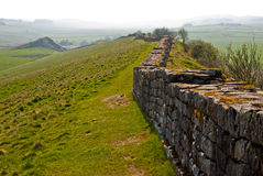Hadrian's wall. A part of the ancient Hadrian's wall in northern England Stock Photography