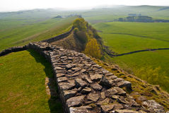 Hadrian's wall. A part of the ancient Hadrian's wall in northern England Royalty Free Stock Image