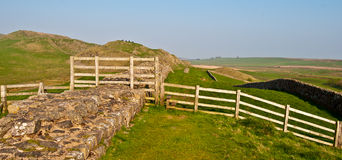 Hadrian's wall Royalty Free Stock Image