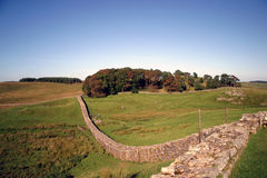 Hadrian's Wall. In Northern England on the border of Scotland Stock Image