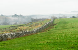 Hadrian`s Wall at Birdoswald, England Royalty Free Stock Photography