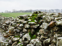 Hadrian`s Wall at Birdoswald, England Stock Photography