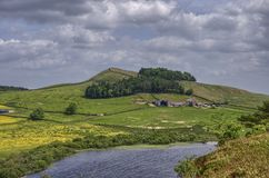 Hadrian's Wall and Crag Lough Royalty Free Stock Image