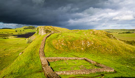 Hadrian's Wall, England. Hadrian's Wall in the County of Northumberland, England Royalty Free Stock Photos