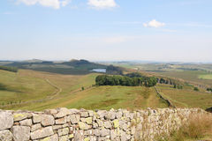 Hadrian's Wall from Green Slack Summit. Royalty Free Stock Photography