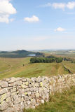 Hadrian's Wall from Green Slack Summit. Royalty Free Stock Photo
