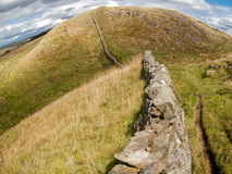Hadrian's wall in northern England, UK Stock Images