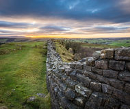 Hadrian`s Wall, Northumberland Royalty Free Stock Images