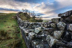 Hadrian`s Wall, Northumberland Royalty Free Stock Image