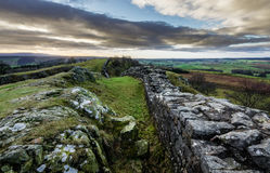 Hadrian`s Wall, Northumberland Stock Images