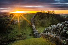 Hadrian`s Wall, Northumberland Royalty Free Stock Photography