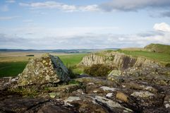 Hadrian`s Wall and Whin Sill Royalty Free Stock Photography