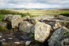 Hadrian-` s Wand an Walltown-Felsspitzen Lizenzfreie Stockbilder