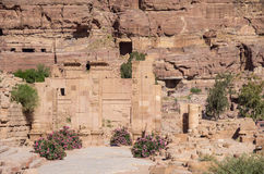 The Hadrian (Temenos) Gate and the Cardo Maximus in Petra. Qasr Stock Photos