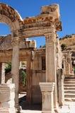hadrian tempelkalkon y för ephesus Royaltyfria Foton