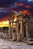 Hadrian Temple Lizenzfreie Stockbilder