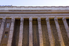Hadrian temple colonnade in Rome Royalty Free Stock Image