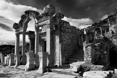 Hadrian Temple in Ephesus Stockbild