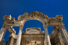 Hadrian temple in Ephesus Royalty Free Stock Image