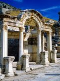 Hadrian Temple in  Ephesus, Turkey. Hadrian`s Temple in Ephesus, Turkey Royalty Free Stock Photos
