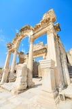 Hadrian Temple maravilloso. Ephesus, Turquía. Foto de archivo