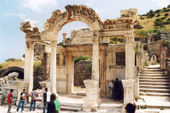 Hadrian temple Royalty Free Stock Images