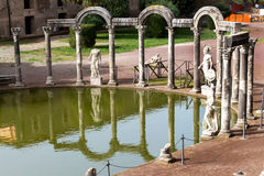 The hadrian villa, adriana is a large roman archaeological complex Royalty Free Stock Photography