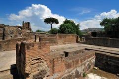 Hadrian Villa, Tivoli - Rome. Emperor Hadrian Villa, Tivoli, nerar Rome, Italy - roman ruins of Villa Stock Photo