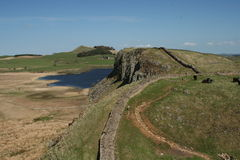 Hadrian wall Royalty Free Stock Images