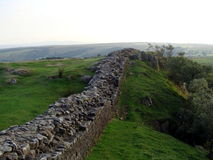 Hadrian Wall in United kingdom Royalty Free Stock Photo
