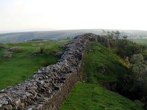 Hadrian Wall in Vereinigtem Königreich Lizenzfreies Stockfoto