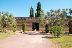 Hadrian willa Romańskiego cesarza 'willa, Tivoli, na zewnątrz Rzym, Włochy, Europa fotografia stock