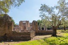 Hadrian willa Romańskiego cesarza 'willa, Tivoli, na zewnątrz Rzym, Włochy, Europa fotografia royalty free