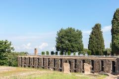 Hadrian willa Romańskiego cesarza 'willa, Tivoli, na zewnątrz Rzym, Włochy, Europa obraz stock