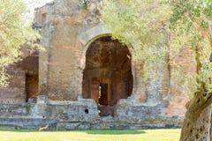 Hadrian willa Romańskiego cesarza 'willa, Tivoli, na zewnątrz Rzym, Włochy, Europa zdjęcie stock