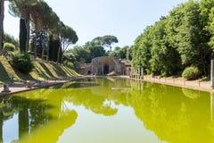 Hadrian willa Romańskiego cesarza 'willa, Tivoli, na zewnątrz Rzym, Włochy, Europa zdjęcie royalty free
