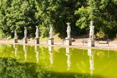 Hadrian willa Romańskiego cesarza 'willa, Tivoli, na zewnątrz Rzym, Włochy, Europa obrazy royalty free