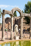 Hadrian willa Romańskiego cesarza 'willa, Tivoli, na zewnątrz Rzym, Włochy, Europa zdjęcia stock