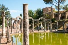 Hadrian willa Romańskiego cesarza 'willa, Tivoli, na zewnątrz Rzym, Włochy, Europa Obrazy Stock