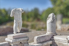 Hadrianic Baths in Aphrodisias Royalty Free Stock Photos