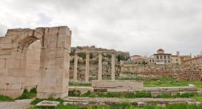 Hadrians图书馆 库存图片
