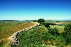 Hadrians墙壁,诺森伯兰角 免版税库存图片